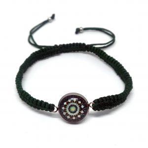 Makramowa Zielona Bransoletka Mandala